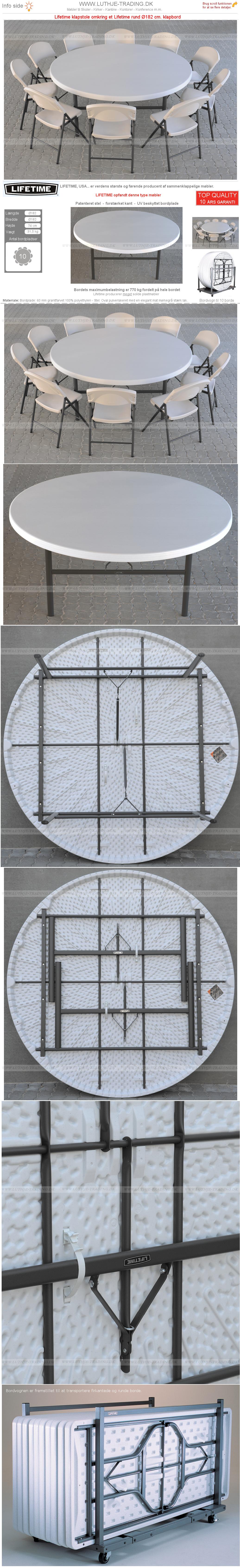 Plast klapborde opstilling 11