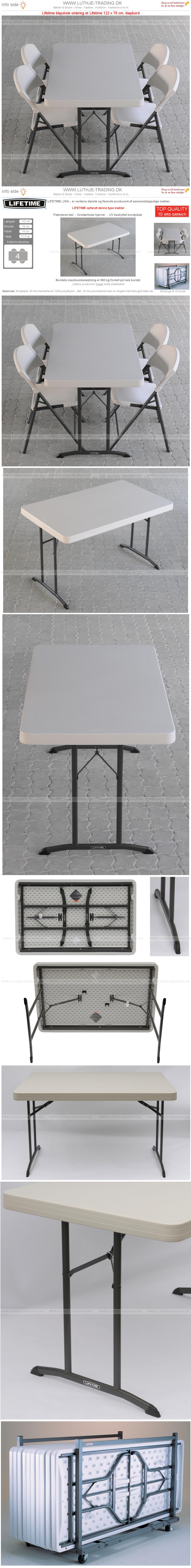 Plast klapborde opstilling 2